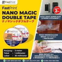 Fast Print Nano Magic Double Tape Isolasi Bening Tahan Air 3 M