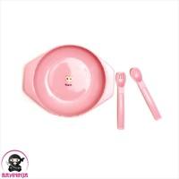 NINIO Small Plate Spoon Fork Alat Makan Bayi