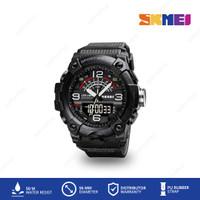 SKMEI 1619 Jam Tangan Dual Time Pria Rubber Sport Casual Tahan Air