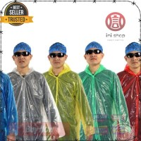 Jas Hujan PE Portable Filament Thick Section Raincoat with Button