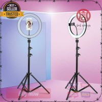 Lampu Halo Ring Light Kamera 120 LED 10 Inch Holder KUALITAS TERBAIK