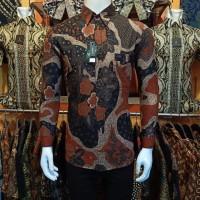 Kemeja Batik Pria Size M L XL Lengan Panjang Kemeja Batik Pria Slimfit