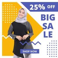 Blouse fashion Wanita busana muslim murah Terbaru kekinian B49
