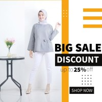 Blouse fashion Wanita busana muslim murah Terbaru kekinian B76