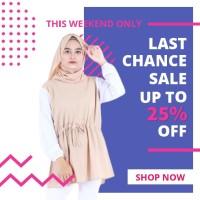 Blouse fashion Wanita busana muslim murah Terbaru kekinian B3