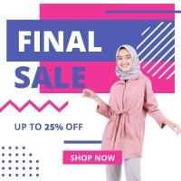TUNIK fashion Wanita busana muslim murah Terbaru kekinian T28