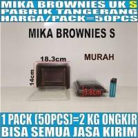 Mika Brownies S Kecil 50pcs Pack Tray Box Brownis Kotak Bolu Kue Murah