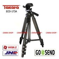 Tripod Takara ECO-173A + Pouch/Tas u/ Gopro, SJ4000, SJ5000, Xiaomi Yi