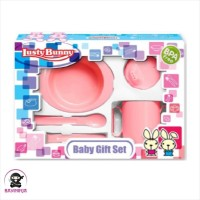LUSTY BUNNY Baby Feeding Gift Set Alat Makan Bayi isi 5 - LB 1405