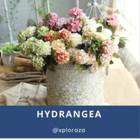 Buket Bunga Plastik Bunga Hias Artificial Hortesia Hydrangea 2 Warna