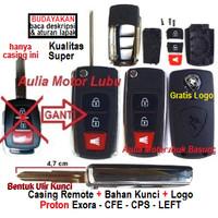 casing kunci lipat flip key remote Proton Exora cfe cps left + logo 3T