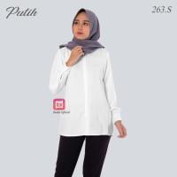 Kemeja Putih Polos Wanita - Baju Kantor Wanita Muslim Moscrepe BD-263