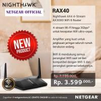 NETGEAR Nighthawk AX4 4-Stream AX3000 WiFi 6 Router RAX40