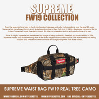 TAS SUPREME WAIST BAG FW19 TREE CAMO ORIGINAL WAIST BAG SUPREME MURAH