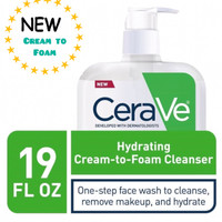 CeraVe Hydrating Cream-to-Foam Cleanser Cream to Foam 562 ml 19oz 562m