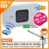 Paket Modem Huawei E5577 4G LTE & Antena Yagi TXR185 25dBi