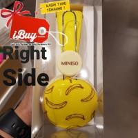 Miniso Cute Banana Yellow Stereo Headphone 3.5mm Jack 173 x 175 x 73mm