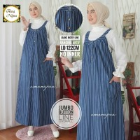 Jumbo button line overall dress jeans motif