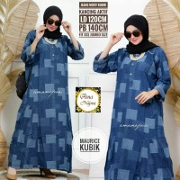 Maurice kubik dress jeans motif big size jumbo