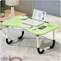 Meja Laptop Lipat Portable (Tab + Gelas) - Meja Lipat Portable