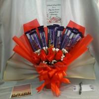 Buket bunga coklat 20| buket bunga hadiah wisuda | buket snack coklat