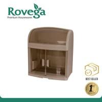Rovega Rak Piring Premium Dish Cabinet Plado BROWN (Food Grade)