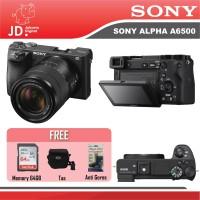 Sony Alpha A6500 Kit 18-135mm OSS GARANSI RESMI PAKET PROMO 64GB