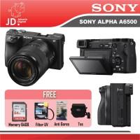 Sony Alpha A6500 Kit 18-135mm OSS Black GARANSI RESMI PAKET PROMO