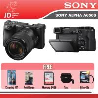 Sony Alpha A6500 Kit 18-135mm OSS Black GARANSI RESMI PAKET LENGKAP