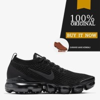 Sneakers Original Sepatu Nike Air Vapormax Flyknit 3 - Triple Black