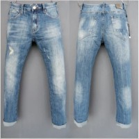 Celana Panjang Jeans GUESS PREMIUM blue ripped washed Skinny Fit