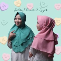 Jilbab Hijab Khimar Jelita Double Layer Pet Antem Rubiah 2 Layer tali