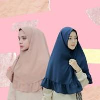 Jilbab Khimar Simple Rempel Non Pet / Hijab Rempel Wolfis
