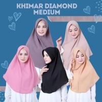 Khimar Pet Medium Diamond Jilbab Diamond Kerudung Pet Simple