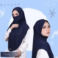 Syria Zakiyah Masker Diamond Non Pet / Khimar Hijab Kerudung Niqob