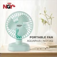 Kipas Angin Portable NAGOYA Aquarius USB Rechargeable Desk Fan   NGY - Hijau
