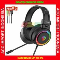 Headphone Headset Rexus Gaming Vonix F30 RGB PC Komputer Original