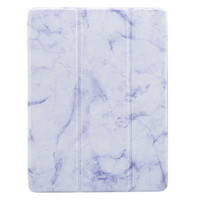 """New iPad 2018 9.7"""" 3 Fold Marble Smart Flip Case/Cover w.Pencil Holder"""