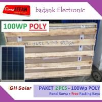 [Paket 2 Pcs] Panel Surya 100Wp POLY - Free Packing Kayu