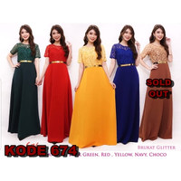 LONG DRESS PUTRI IMPORT | BAJU DRESS PESTA PARTY | WANITA GADIS