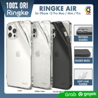 Original Ringke Air Case iPhone 12 Pro Max / 12 Mini 12 Soft Casing - iPhone 12ProMax, Smoke Black
