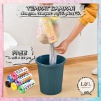 Tong Sampah Portable dengan Tempat Kantong Plastik Sampah Refill
