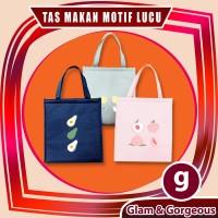 Tas Makan / Lunch Bag Motif Buah Ukuran 23 x 26.5 cm TM016