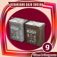 Laundry Bag Keranjang Laundry Persegi Penutup Serut (43x32x53) KB016
