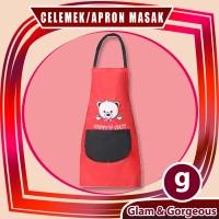 Apron / Celemek Masak Motif Beruang Waterproof CM003
