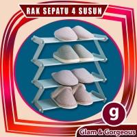 Rak Sepatu Zig Zag Besi 4 Susun Awet kokoh - RS019