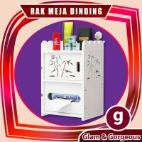 DW024 Rak Dinding/Meja Desktop storage Rak vintage DOMESTIC