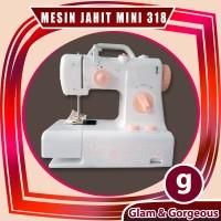 Mesin Jahit mini FHSM-318 Portable bisa jahit maju - mundur