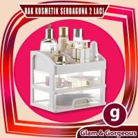 Rak Kosmetik Plastik Serbaguna 2 Laci RKP004 Make Up Organizer