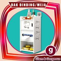 DW025 Rak Dinding/Meja Desktop storage Rak vintage DOMESTIC